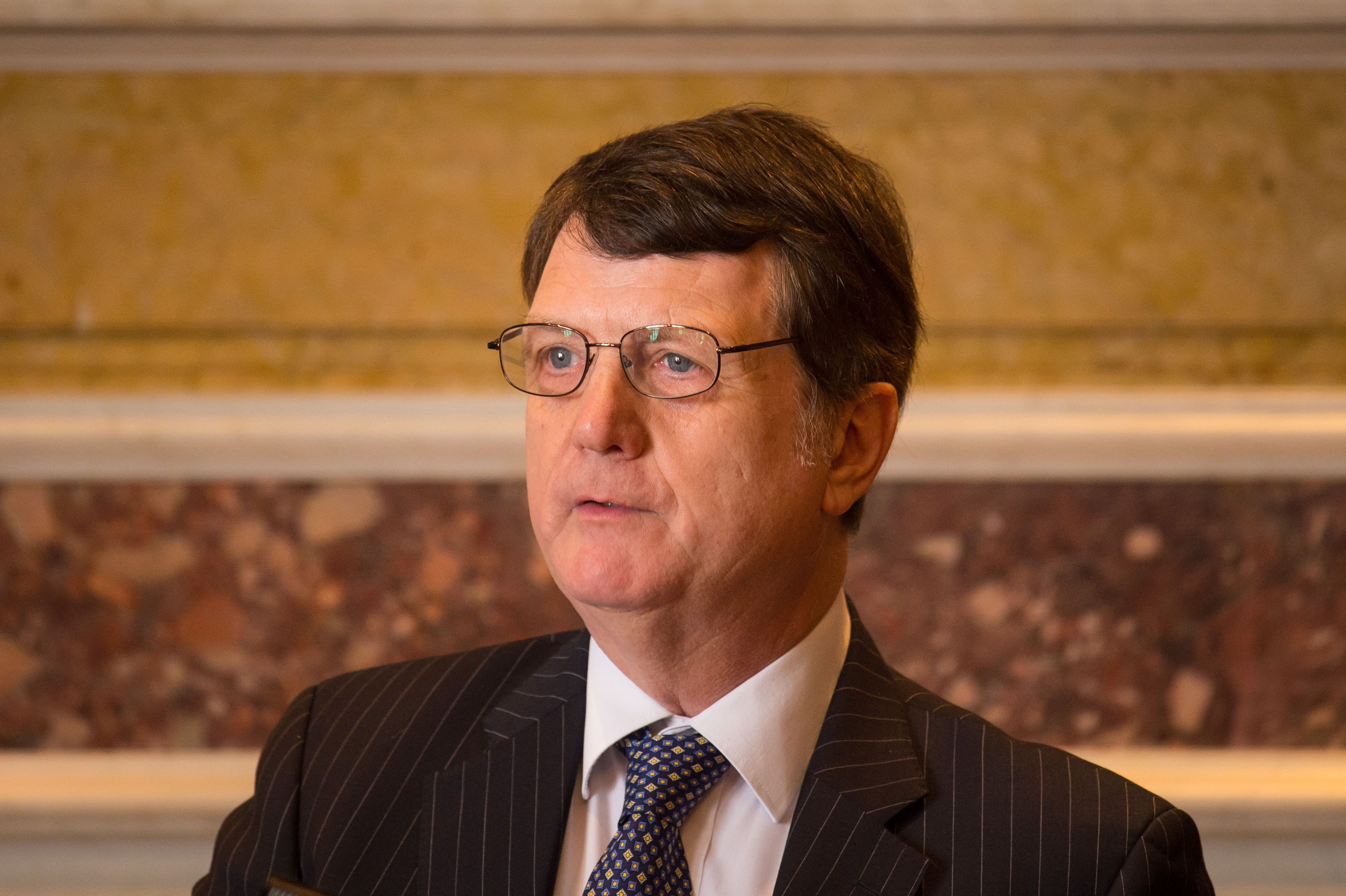 Gerard Batten was chosen as interim leader of the U.K. Independence Party on Saturday.