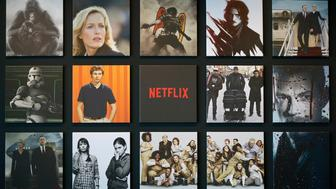Promotional images of Netflix Inc. programs are displayed on a wall at the Netflix Japan office in Tokyo, Japan, on Thursday, June 25, 2015. Netflix plans more alliances with Japanese content providers to lure users when the world's biggest subscription online video service debuts in the country later this year. Photographer: Kiyoshi Ota/Bloomberg via Getty Images