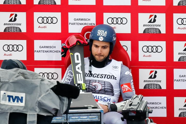 Mathieu Faivre is seen during the Audi FIS Alpine Ski World Cup Men's Giant Slalom in January.