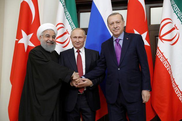 Συνάντηση των προέδρων της Ρωσίας, της Τουρκίας και του Ιράν τον Απρίλιο στην