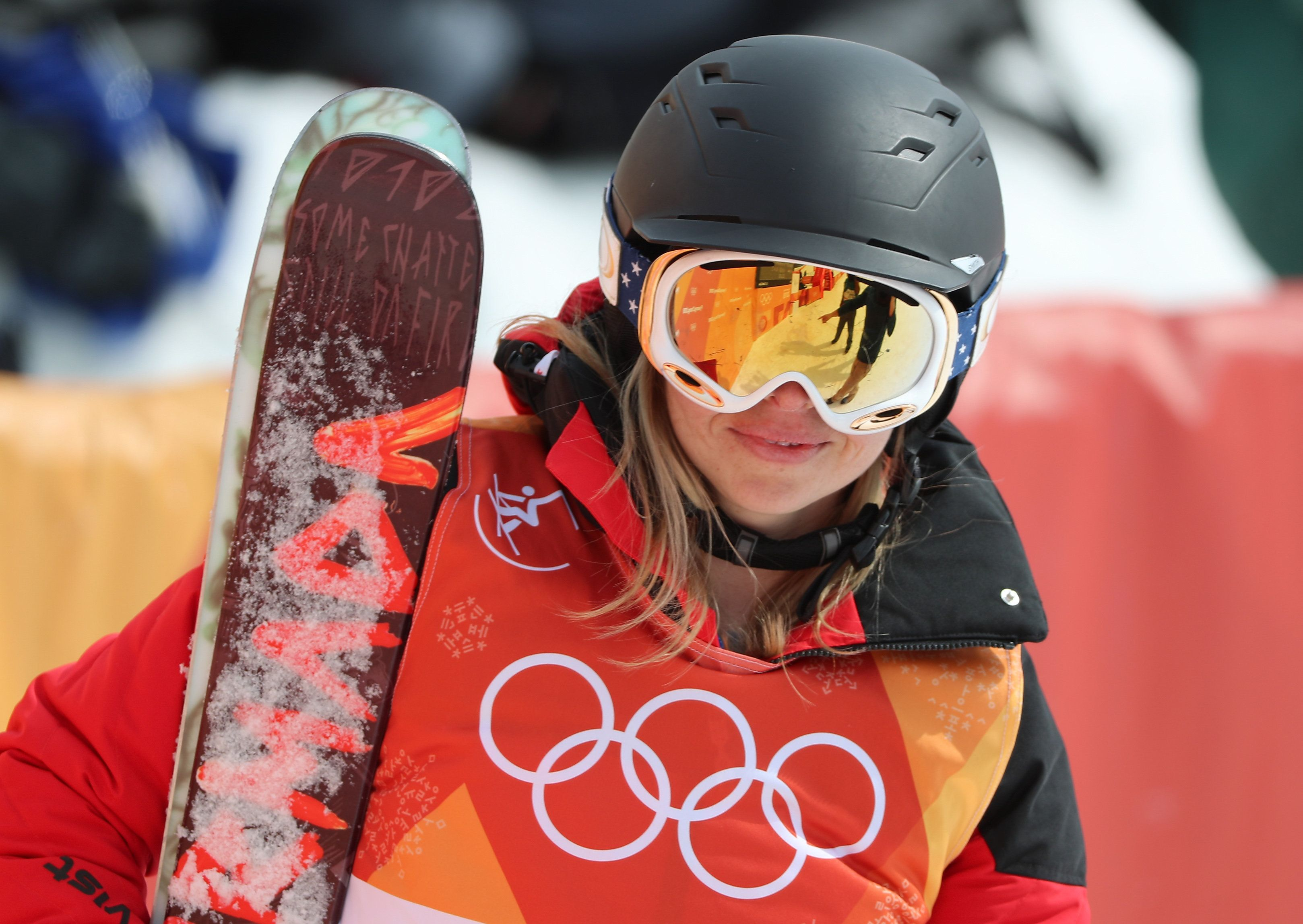 Elizabeth Swaney, the American skier who figured out how to compete (after a fashion) at the Winter Olympics...