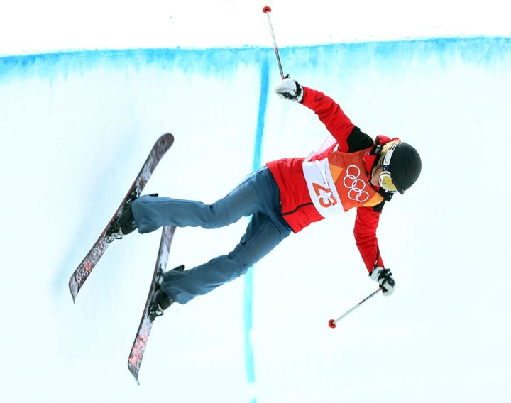 Swaney, 33, finished last in the women's halfpipe competition on Monday -- to no one's surprise.