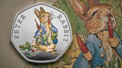 영국에서 피터래빗이 새겨진 50펜스 동전이