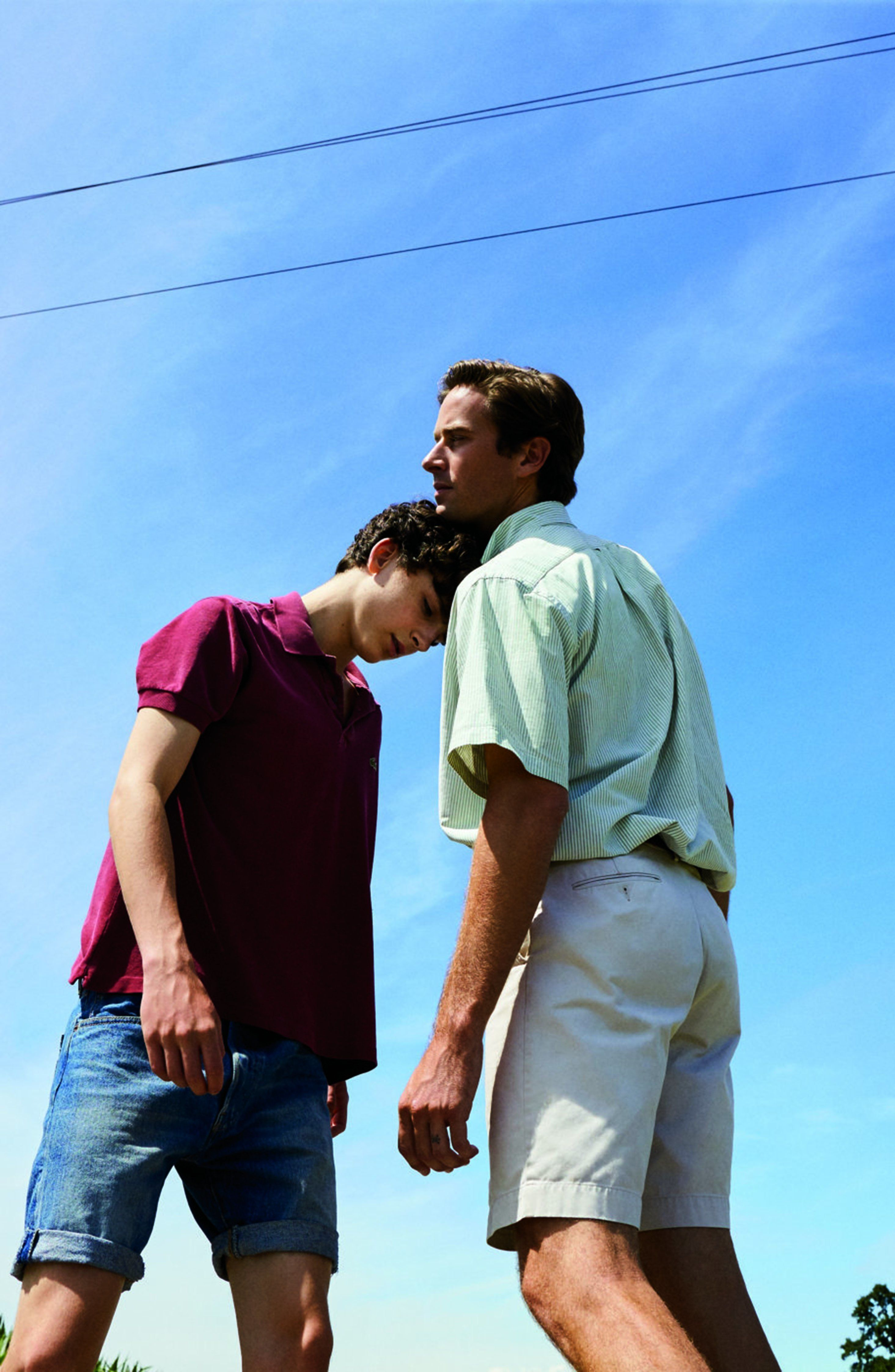 Timothée Chalamet and Armie Hammer in 'Call Me By Your