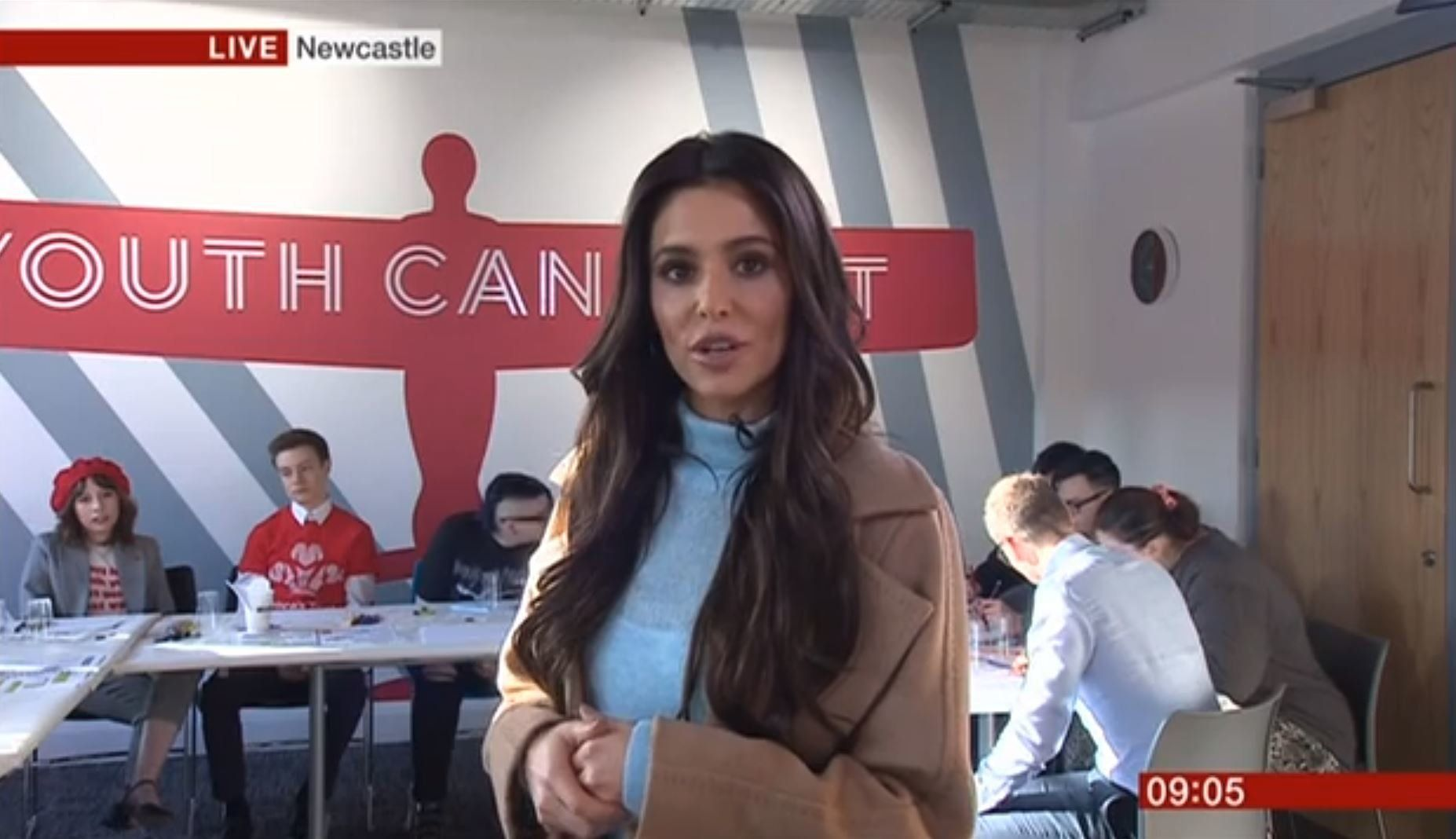 Cheryl made an appearance on 'BBC Breakfast' to discuss the opening of her youth