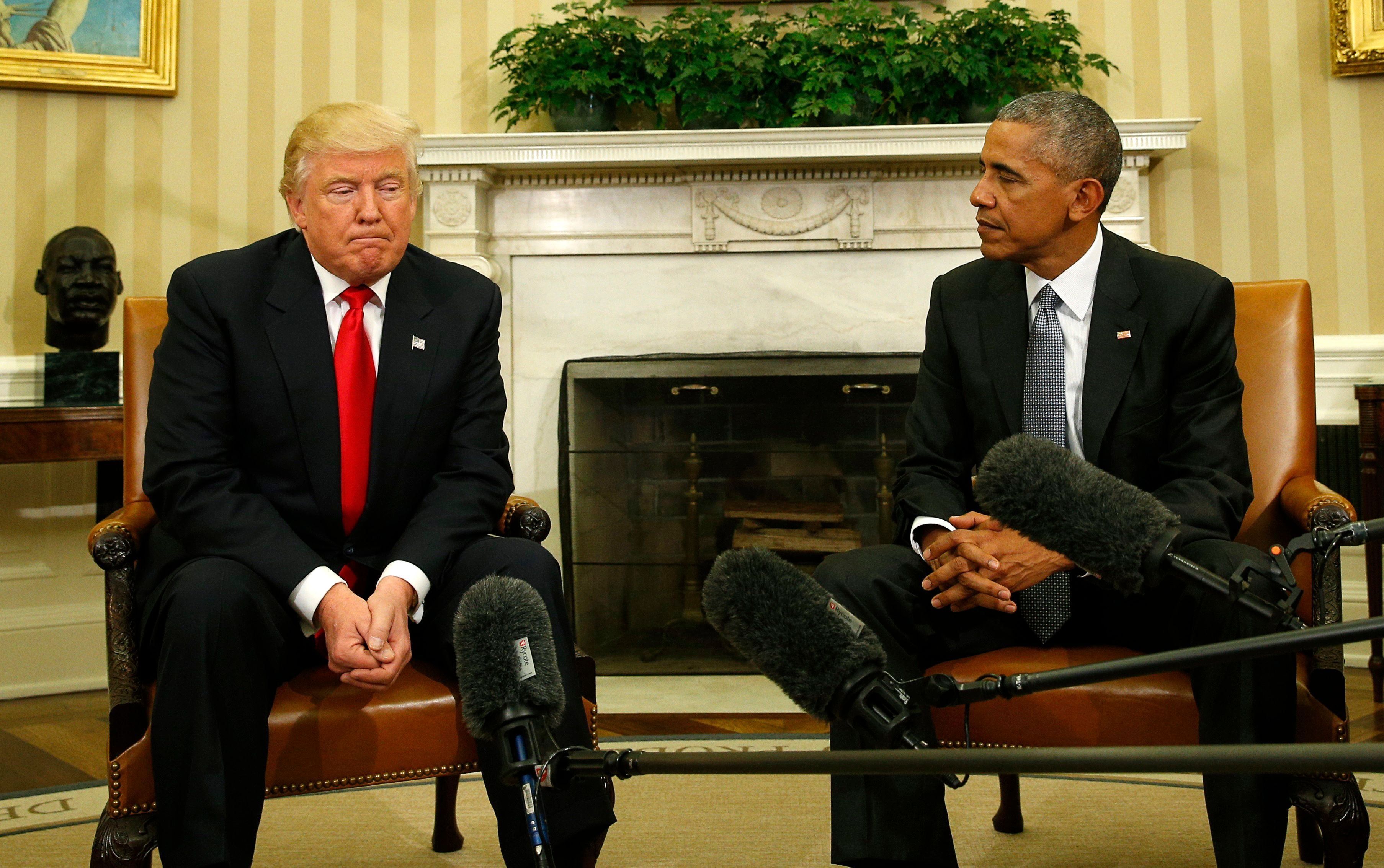 Trump accused Obama of inaction against Russian influence in the elections