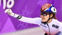 여자 쇼트트랙 대표팀이 계주 금메달을