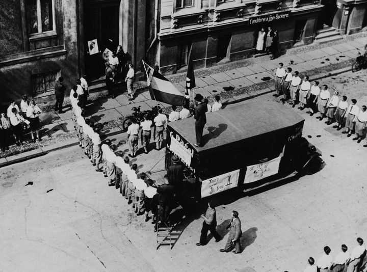 Demonstration Of Hitlerian Youth Movement Behind Pr. Magnus Hirschfeld In Berlin On May 6Th 1933