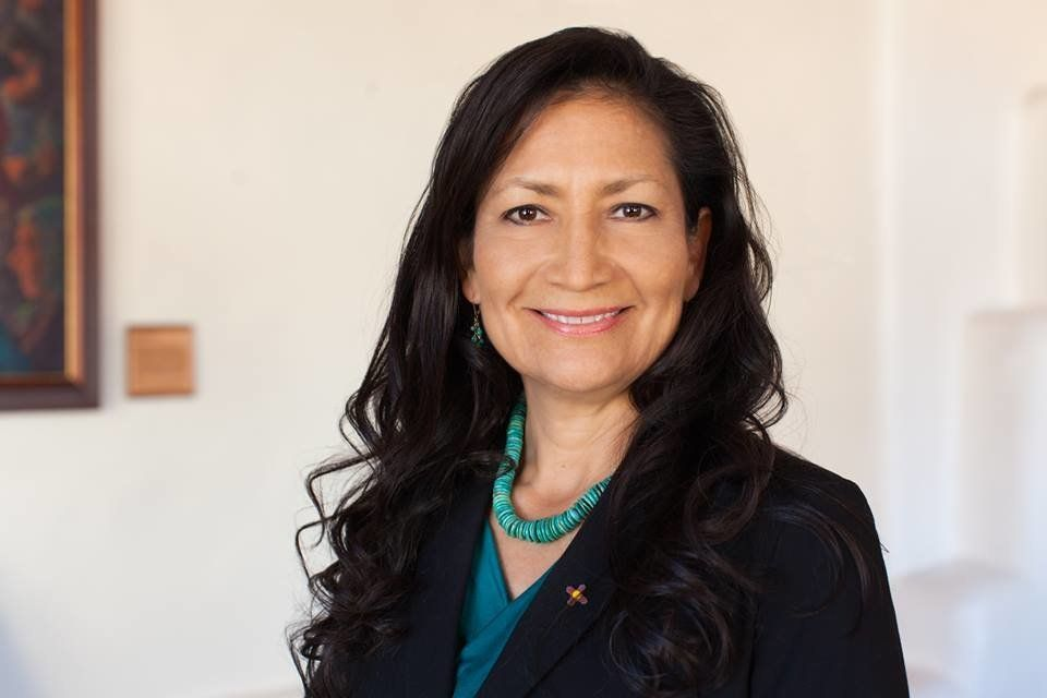 "Deb Haaland says President Donald Trump is way out of touch with regular Americans. ""He's never had to struggle."""