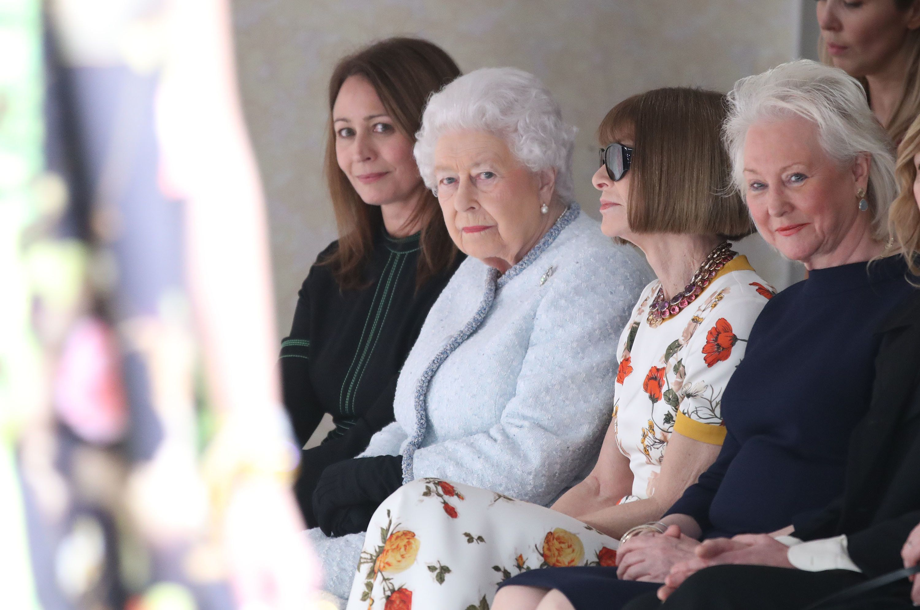 The Queen Was Sat Next To Anna Wintour At London Fashion