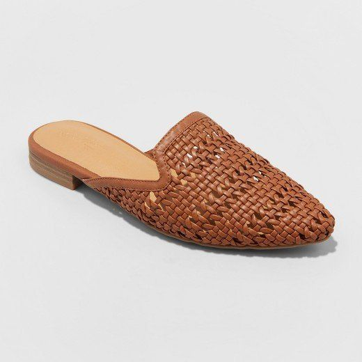 c81e97bc67 Whisper Woven Backless Slip-On Mules from Universal Thread. Target. Get  them here. 2. Miriam Crossband Quilted Mules from A New Day