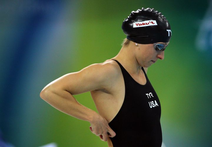 Kukors prepares for the Women's 200-meter individual medley on Day Four of the 10th FINA World Swimming Championships on Dec.