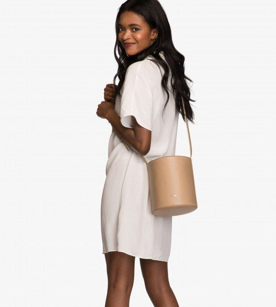 """Bucket bags are making a comeback, but in a much smaller fashion. Get <a href=""""http://mattandnat.com/shop/handbags/bucket-bag"""