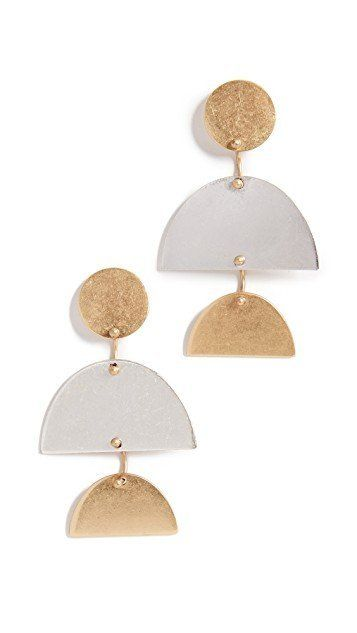 Pinners are going crazy over fun geometric earrings this season. The search is up 169%, according to Pinterest. Get these chi
