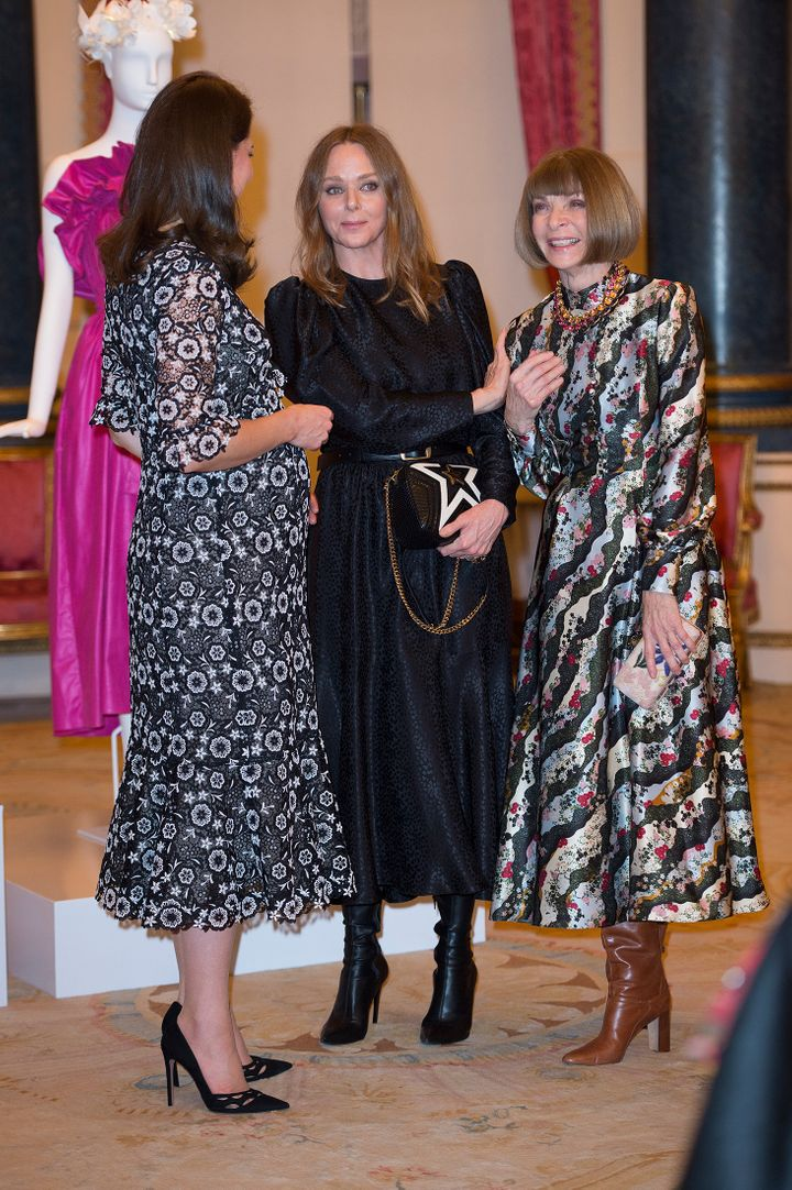 The Duchess of Cambridge with Wintour and designer Stella McCartney, Feb. 19, 2018.