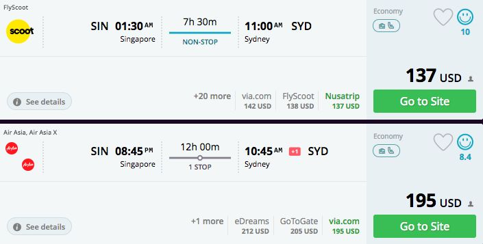 "<a href=""https://www.momondo.com/flightsearch/?Search=true&TripType=1&SegNo=1&SO0=SIN&SD0=SYD&SDP0=13-05-"