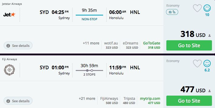 "<a href=""https://www.momondo.com/flightsearch/?Search=true&TripType=1&SegNo=1&SO0=SYD&SD0=HNL&SDP0=17-05-"