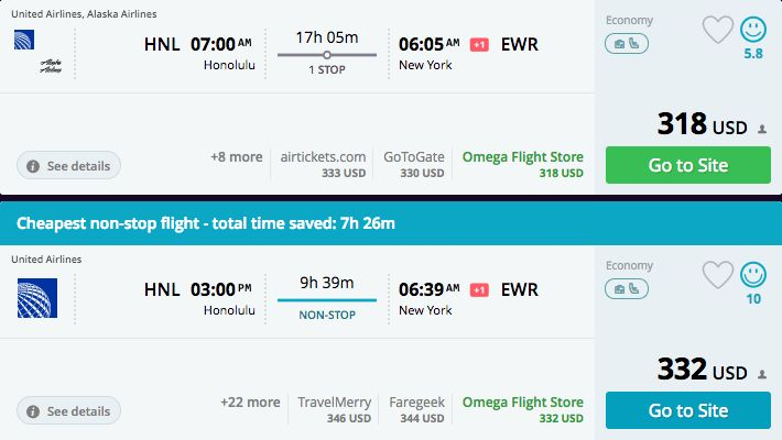 "<a href=""https://www.momondo.com/flightsearch/?Search=true&TripType=1&SegNo=1&SO0=HNL&SD0=NYC&SDP0=22-05-"