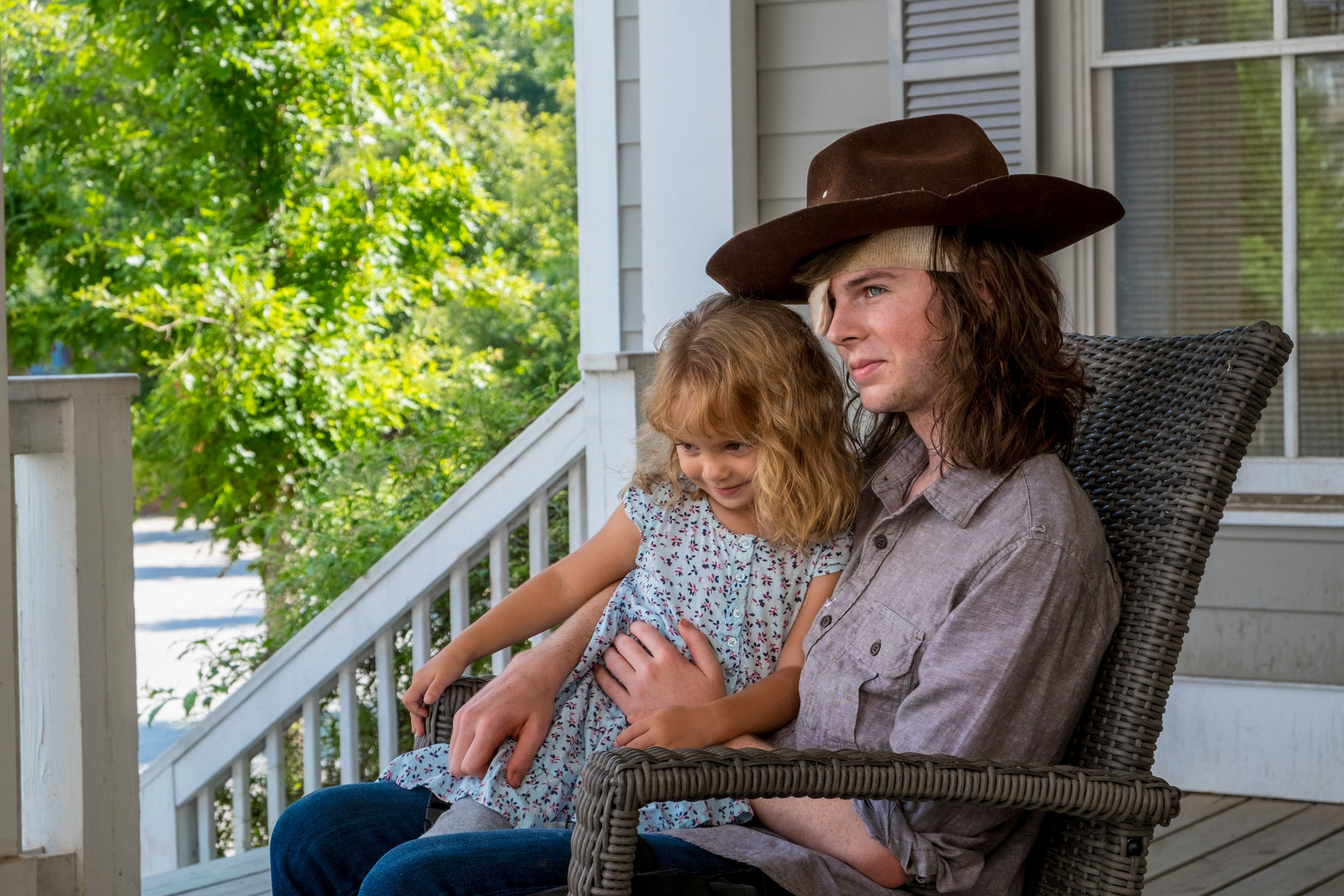 "Actor Chandler Riggs plays the character Carl Grimes on ""The Walking Dead."""