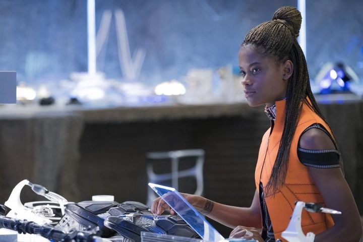 "Letitia Wright as Shuri in ""Black Panther."""