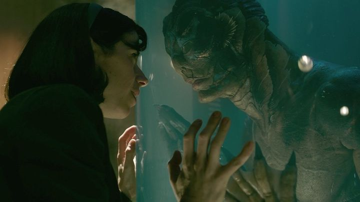 "Sally Hawkins, left, and Doug Jones in ""The Shape of Water."""