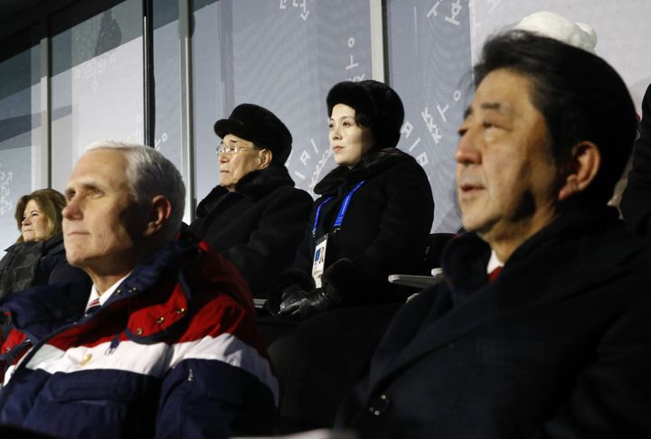 Vice President Mike Pence didn't officially engage with the North Koreans during his visit to the Winter Olympics, but his&nb