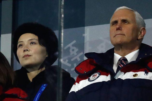 펜스는 한국 방문 도중 '비공개로' 김여정을 만나기로