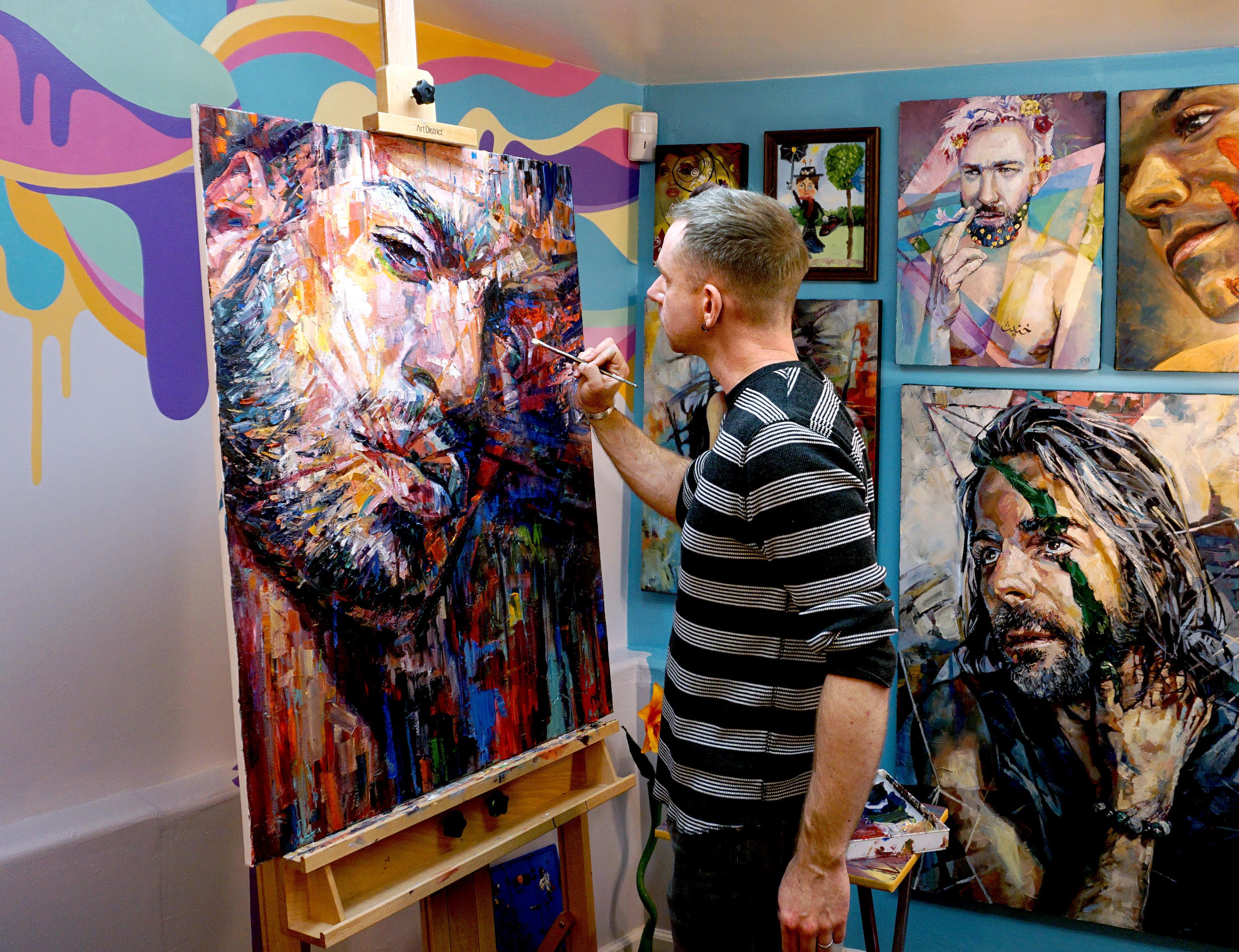 This Artist Is Tackling 'Toxic, Fragile' Masculinity In A Colorful