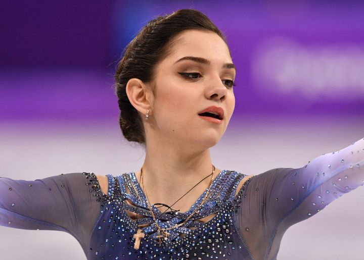 Evgenia Medvedeva had set the previous world record for the event just minutes earlier.