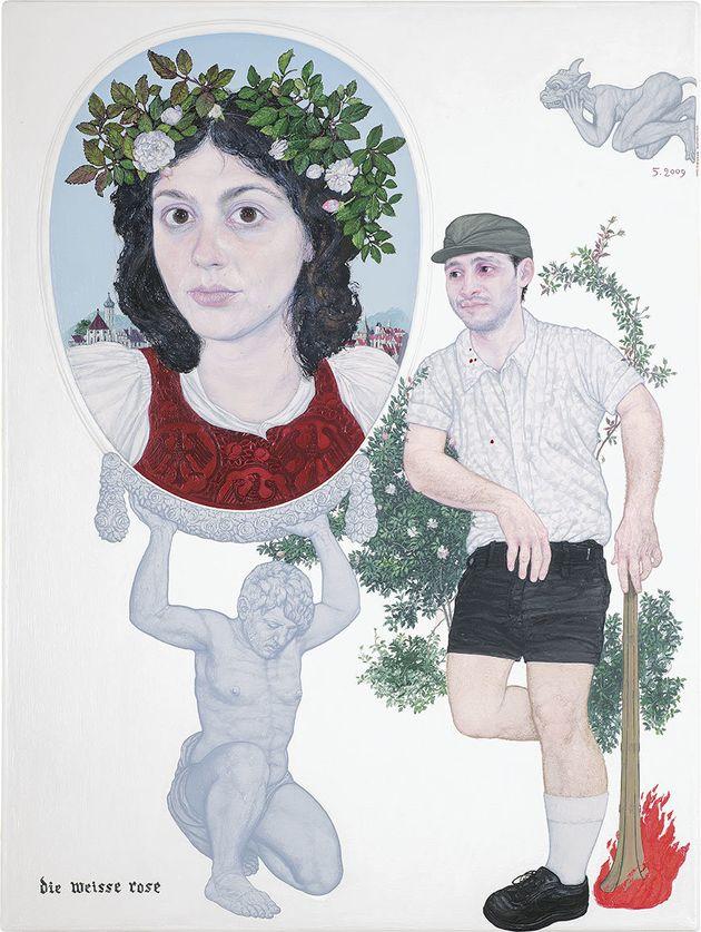 «Die Weise Rose» (2009). Λάδι σε καμβά,40...