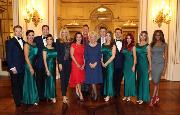 The 'Strictly' gang pose with Camillaat the