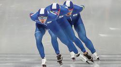 남자 스피드 스케이팅 팀추월이 결승에