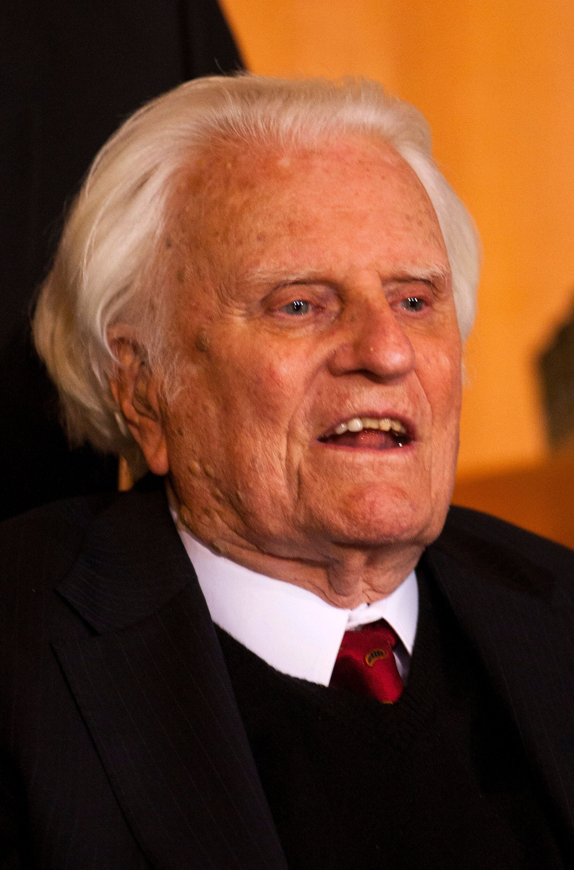 Billy Graham, seen in 2010, has died at the age of 99.