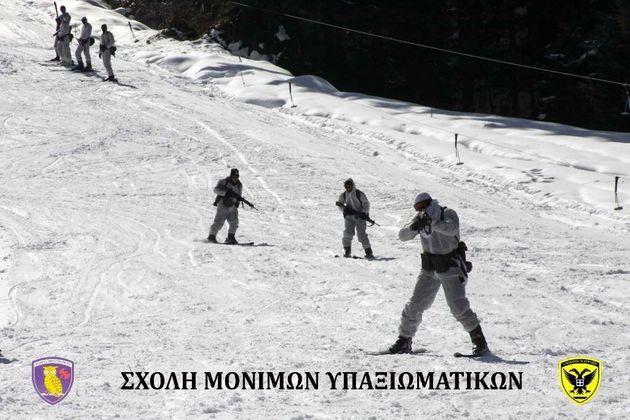 Οι ασκήσεις Ελλήνων υπαξιωματικών στα