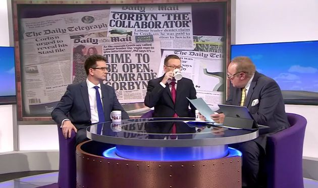 Labour MP Andrew Gwynne sips his tea while trying to stay out of the