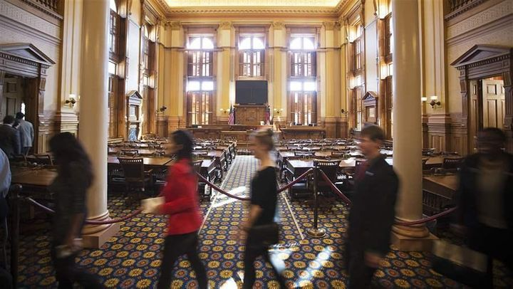 Georgia legislative interns receive a tour of the state Capitol in 2015. The #MeToo movement has drawn new attention to the w