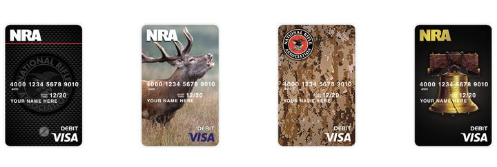 NRA members can get Visa cards sporting the gun group's brand.