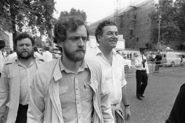 Jeremy Corbyn as a young MP in the