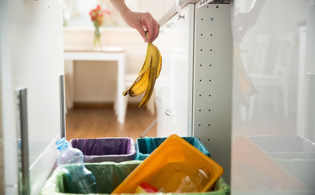 Multiple bins are a smart and obvious way to collect food scraps, but sometimes it's not the most practical...
