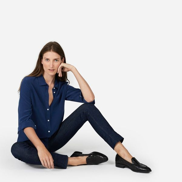 """A relaxed fit button down is a capsule essential as the weather eases up. <a href=""""https://www.everlane.com/products/womens-r"""