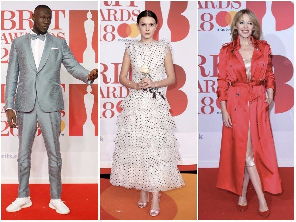 Millie Bobby Brown, Kylie Minogue And Stormzy Led the Best Dressed At The Brit
