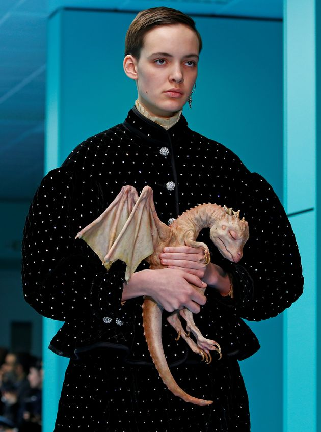 Models Carried Their Own Severed Heads At Gucci's Nightmarish Milan Fashion