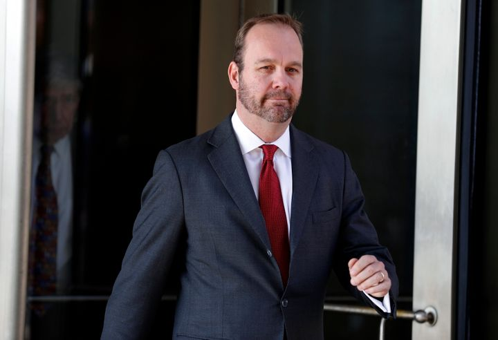 Rick Gates, former campaign aide to U.S. President Donald Trump, departs after a bond hearing at U.S. District Court in Washi