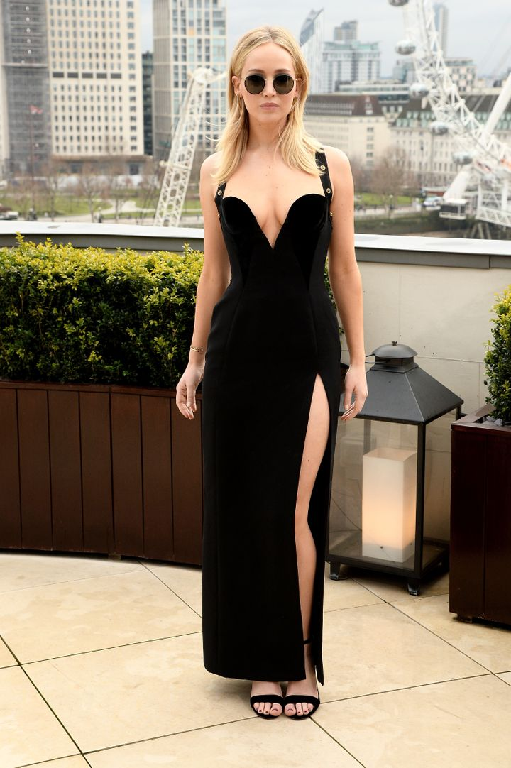 """Jennifer Lawrence attends the """"Red Sparrow"""" photocall in London."""