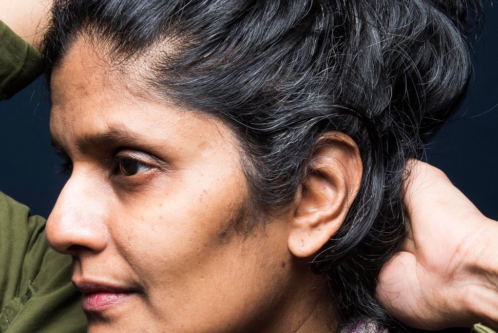 """I love my black hair. As an Indian woman, our black hair is our glory, so when it goes, it's hard. My mom is all gray a"