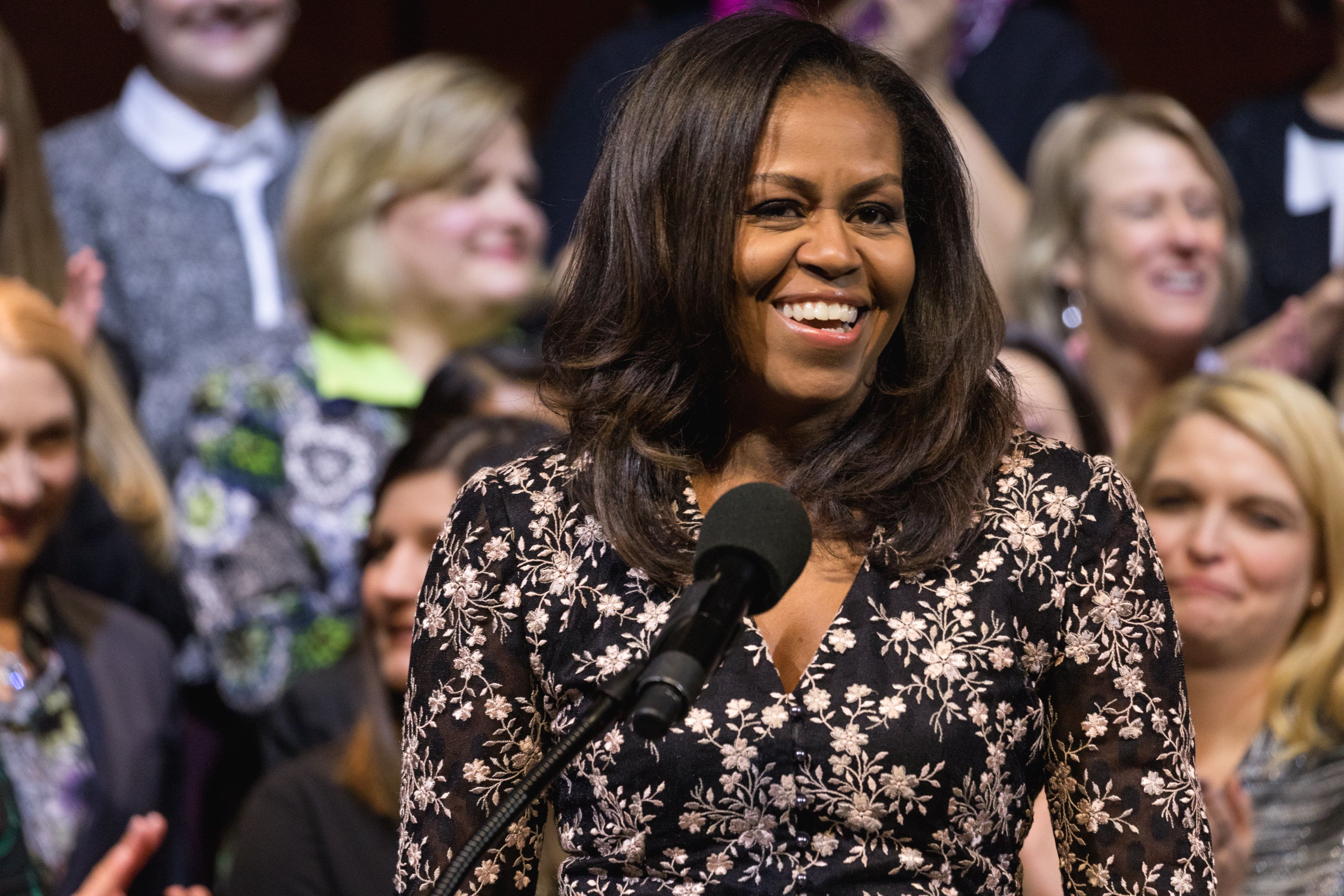 Michelle Obama Tells Students To Keep Fighting: 'We're Behind You Every Step'