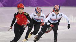 쇼트트랙 남자 500m에서 황대헌 은메달·임효준