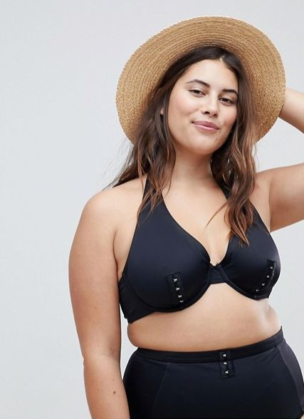 """<strong>Sizes</strong>: 38D to 42G<br>Get it <a href=""""http://us.asos.com/asos-curve/asos-curve-mix-and-match-underwired-bikin"""