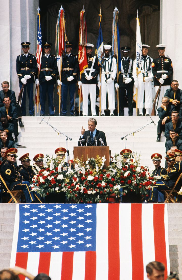 "<a href=""https://billygrahamlibrary.org/honoring-america/"" target=""_blank"">Billy Graham speaks at the Lincoln Memorial o"