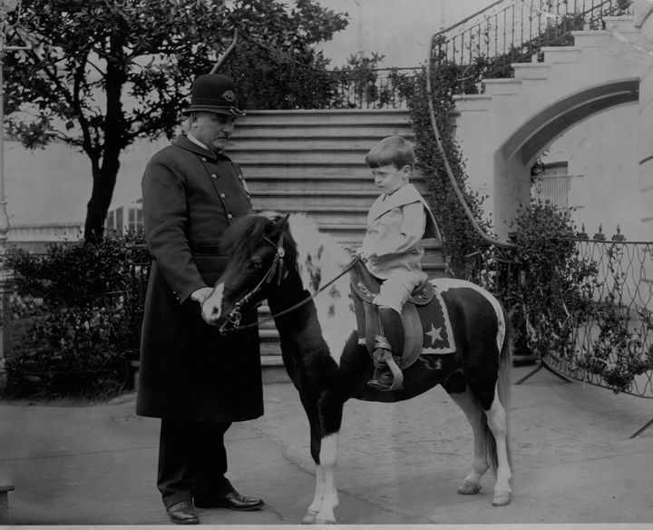 President Roosevelt's son, Quentin, and his pony, Algonquin in 1902.